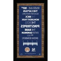 New York Yankees Subway Sign With Authentic Game Used Dirt -