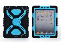 Pepkoo Ipad 2/3/4 Case Plastic Kid Proof Extreme Duty Dual