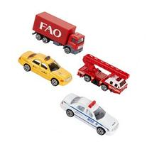 FAO Schwarz Set of 4 New York City Diecast Vehicles