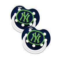 New York Yankees Glow in Dark 2-Pack Baby Pacifier Set - MLB
