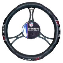 NFL Arizona Cardinals Steering Wheel Cover, Black, One Size