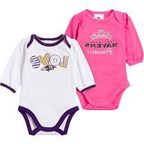 NFL Baltimore Ravens Girls Long Sleeve Bodysuit , 3-6 Months