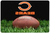 NFL Chicago Bears Classic Football Pet Bowl Mat, Large