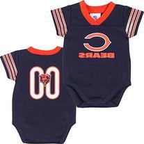 NFL Chicago Bears Dazzle Mesh V-Neck Bodysuit, 12 Months,