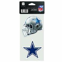 NFL Dallas Cowboys 4-by-8 Die Cut Decal