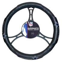 NFL Dallas Cowboys Steering Wheel Cover, Black, One Size