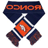 NFL Denver Broncos 2012 Team Stripe Scarf, Navy/Orange/White
