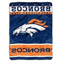 NFL Denver Broncos Plush Raschel Blanket, 60 x 80-Inch,
