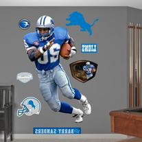 NFL Detroit Lions Barry Sanders Record Breaker Wall Graphics