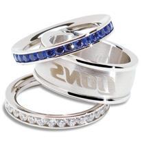 Detroit Lions Logo Crystal Stacked Ring Set