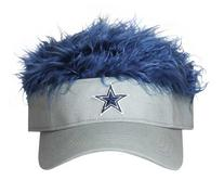 NFL Dallas Cowboys Flair Hair Adjustable Visor, Grey