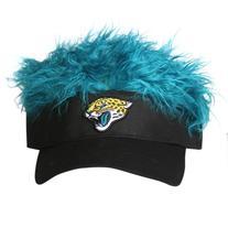NFL Jacksonville Jaguars Flair Hair Adjustable Visor, Black