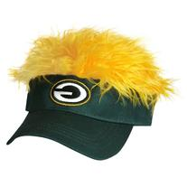 NFL Green Bay Packers Flair Hair Adjustable Visor, Green