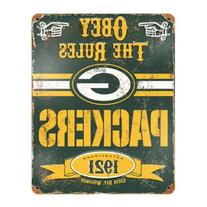 Party Animal NFL Embossed Metal Vintage Green Bay Packers