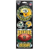 NFL Green Bay Packers Prismatic Stickers, Team Color, One