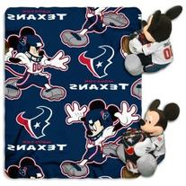 NFL Houston Texans Mickey Mouse Pillow with Fleece Throw
