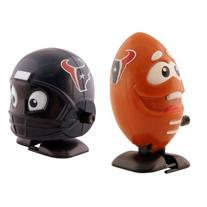 NFL Houston Texans Wind Up Football and Helmet, Pack of 2