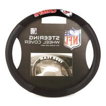 NFL Kansas City Chiefs Poly-Suede Steering Wheel Cover