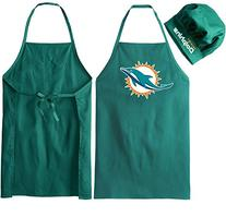NFL Miami Dolphins Logo Apron & Chef Hat, One Size, Green