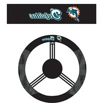 NFL Miami Dolphins Steering Wheel Cover, Black