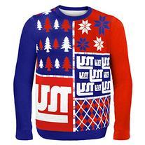 NFL New York Giants Busy Block Ugly Sweater, Medium, Blue