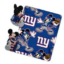 NFL New York Giants Mickey Mouse Pillow with Fleece Throw