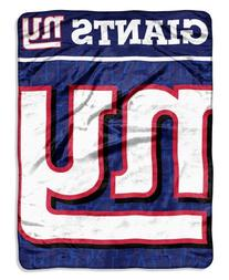 NFL New York Giants Micro Raschel Throw Blanket, 46 x 60-
