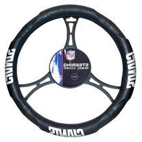 NFL New York Giants Steering Wheel Cover, Black, One Size