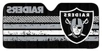 NFL Oakland Raiders Universal Auto Shade, Large, Black