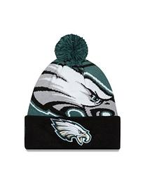 NFL Philadelphia Eagles New Era Logo Whiz Pom Beanie, One
