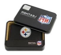 NFL Pittsburgh Steelers Embroidered Genuine Leather Trifold