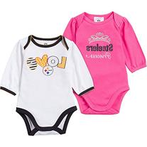 NFL Pittsburgh Steelers Girls Long Sleeve Bodysuit , 0-3