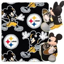 NFL Pittsburgh Steelers Mickey Mouse Pillow with Fleece