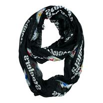 NFL Pittsburgh Steelers Sheer Infinity Scarf, One Size,