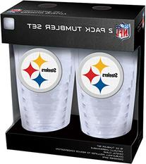 NFL Pittsburgh Steelers Slimline Tumbler with Patch 2Piece