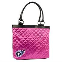 NFL Quilted Tote Bag, Tennessee Titans - Pink