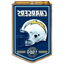 """NFL San Diego Chargers 68771011 Wood Sign, 11"""" x 17"""