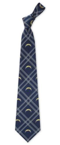 NFL San Diego Chargers Navy Blue Plaid Woven Tie
