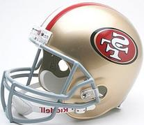 NFL San Francisco 49ers Deluxe Replica Football Helmet