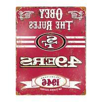Party Animal NFL Embossed Metal Vintage San Francisco 49ers