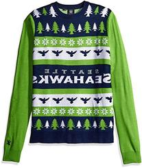 NFL Seattle Seahawks One Too Many Ugly Sweater, Large, Green