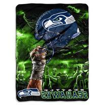 NFL Seattle Seahawks 60-Inch-by-80-Inch Plush Rachel Blanket