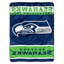 NFL Plush Raschel Throw Blanket 12th Man Design, Seattle