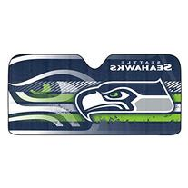 NFL Seattle Seahawks Universal Auto Shade, Large, Blue