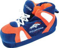 Comfy Feet Men's Denver Broncos 01 Indoor Slippers,Navy/