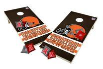 Wild Sports Wooden Cornhole Set - Cleveland Browns