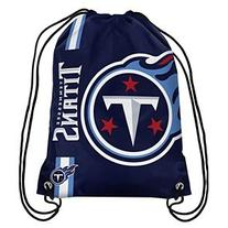 NFL Tennessee Titans Big Logo Drawstring Backpack, 18 In. X