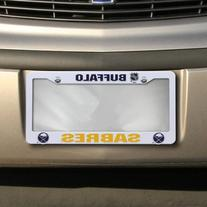 NHL Buffalo Sabres Plastic License Plate Frame - White