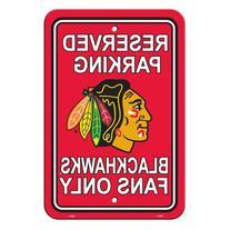 "NHL Chicago Blackhawks Reserved Parking Sign, 12"" x 18"