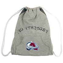 NHL Colorado Avalanche Hoodie Cinch Backpack, 14 x 17-Inch,